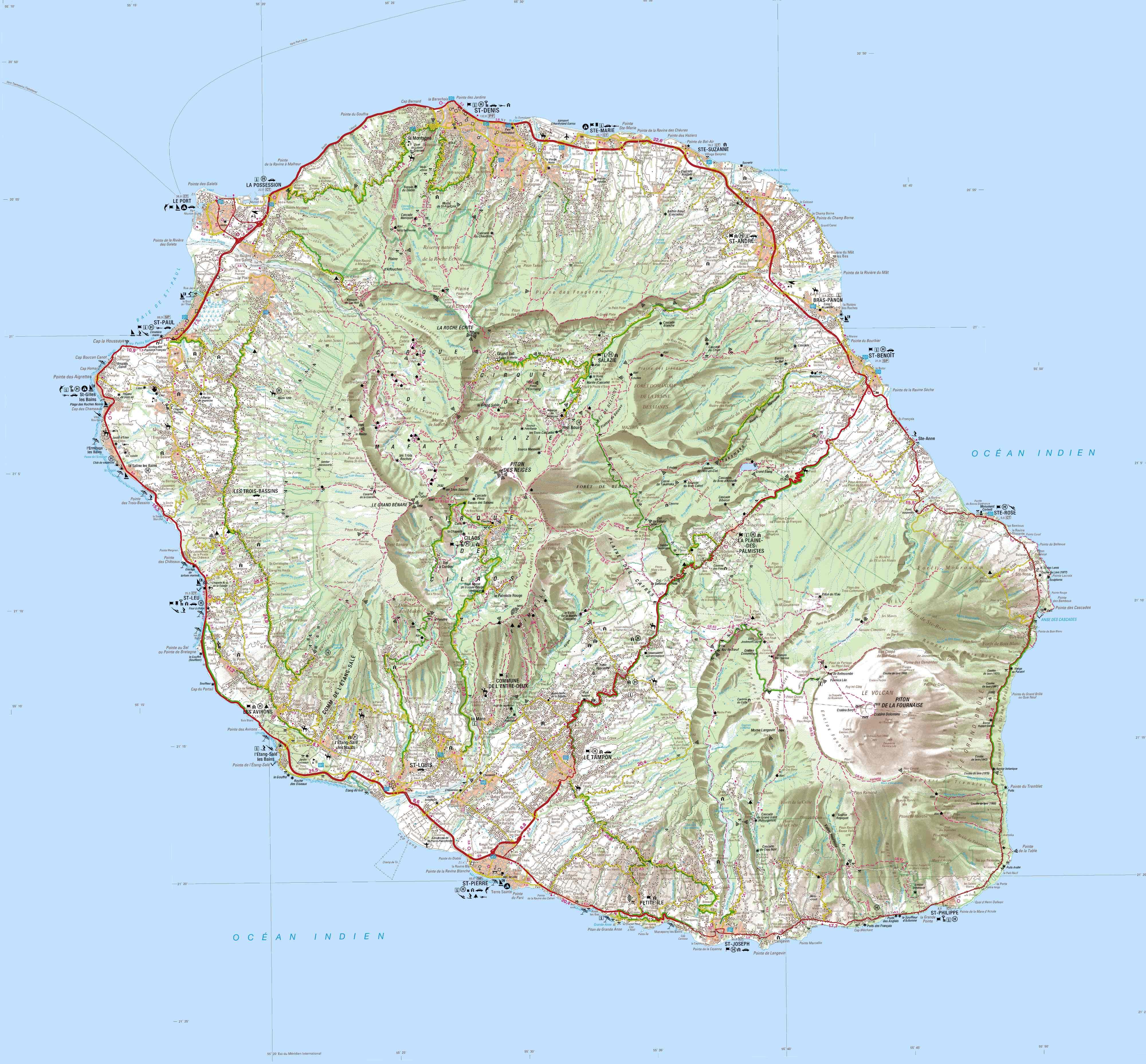 Carte IGN de La Réunion
