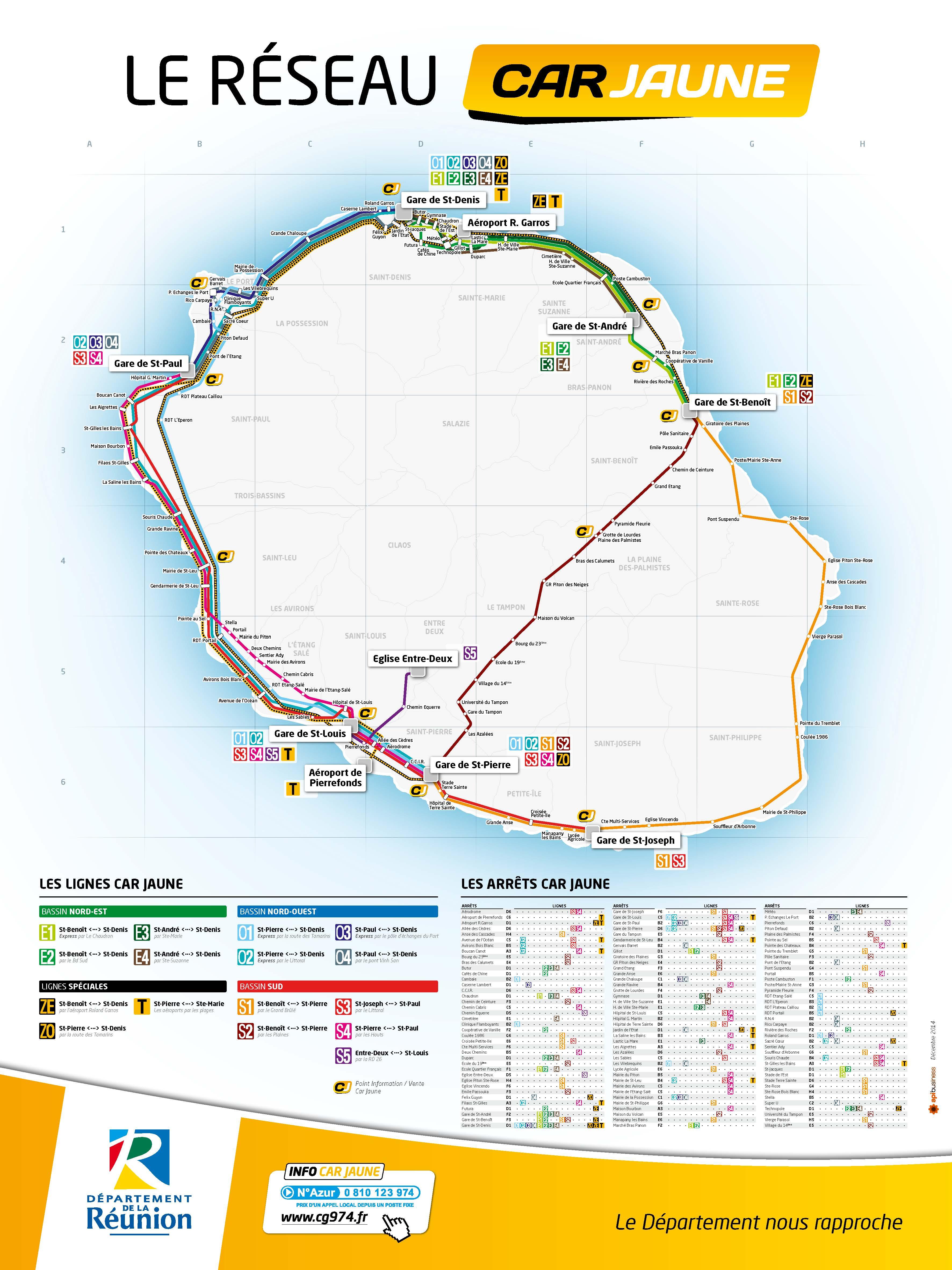 plan réseau Cars Jaunes