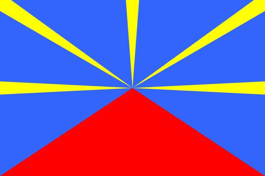 Les drapeaux de La Réunion