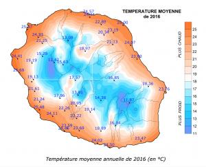 Bilan climatique de La Réunion en 2016