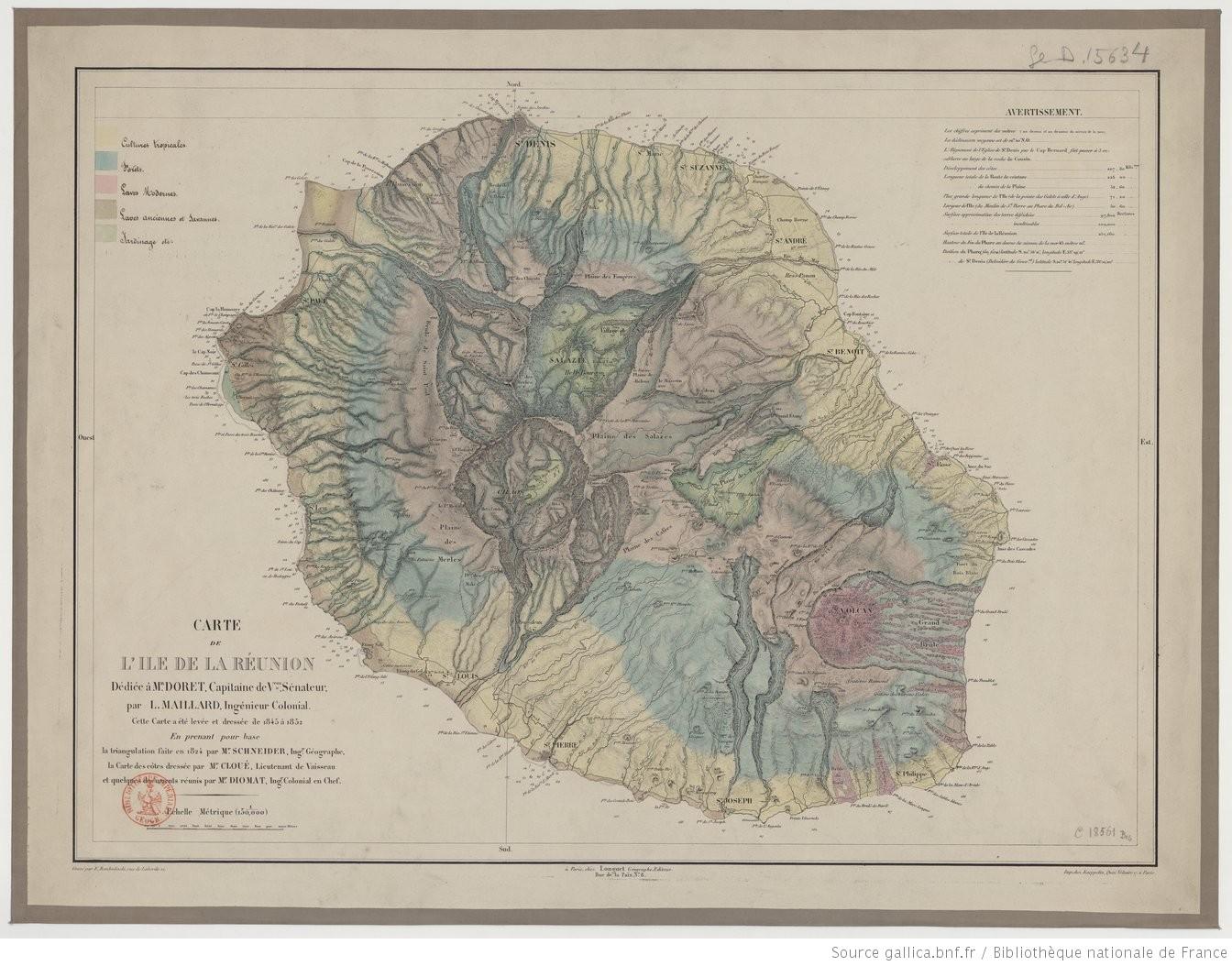 Carte-Ile-de-La-Reunion-1852-Maillard