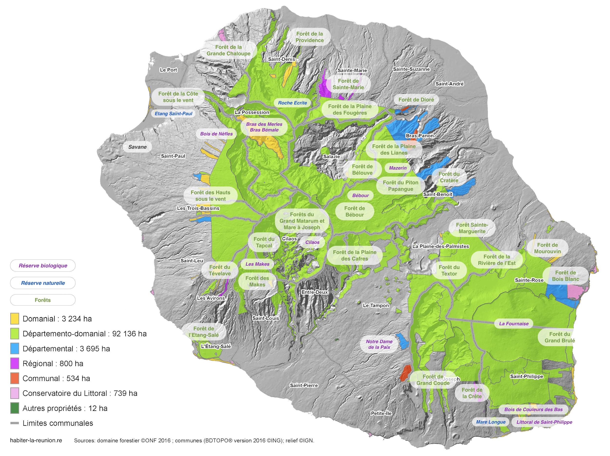 Crete Carte Geographique Monde.Forets De La Reunion Habiter La Reunion