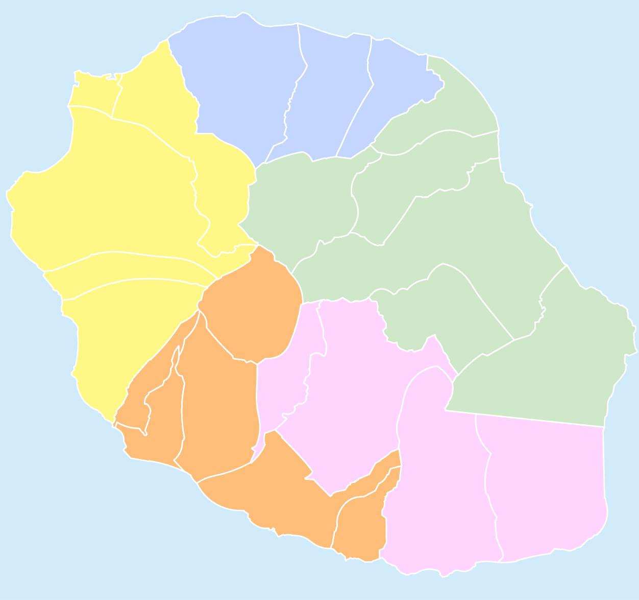 Carte interactive de La Réunion