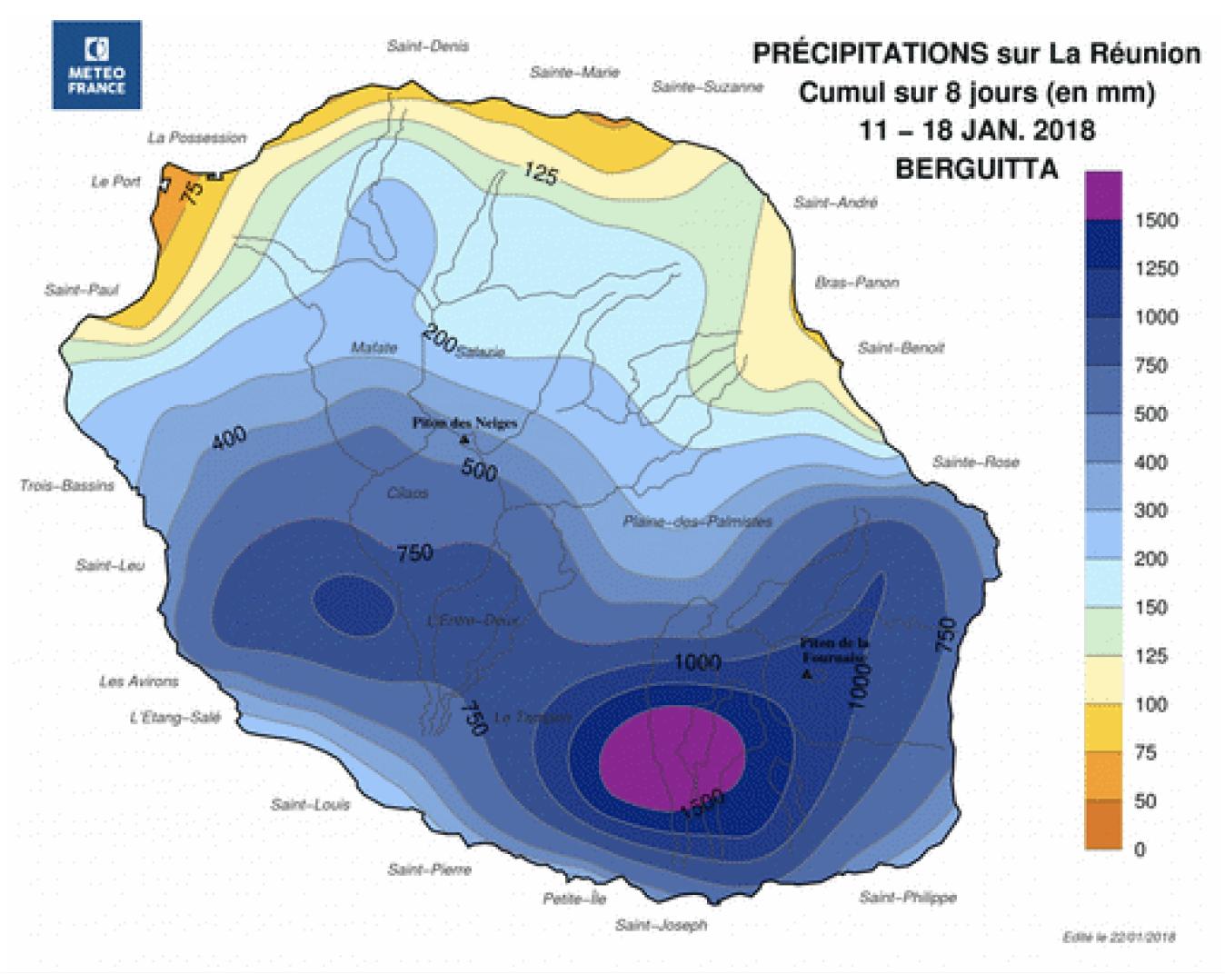 Bilan cyclone Berguitta