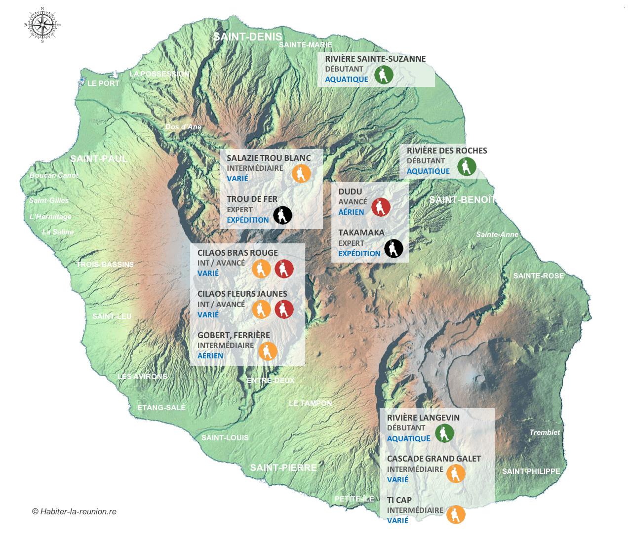 Carte-spots-canyoning-La-Réunion