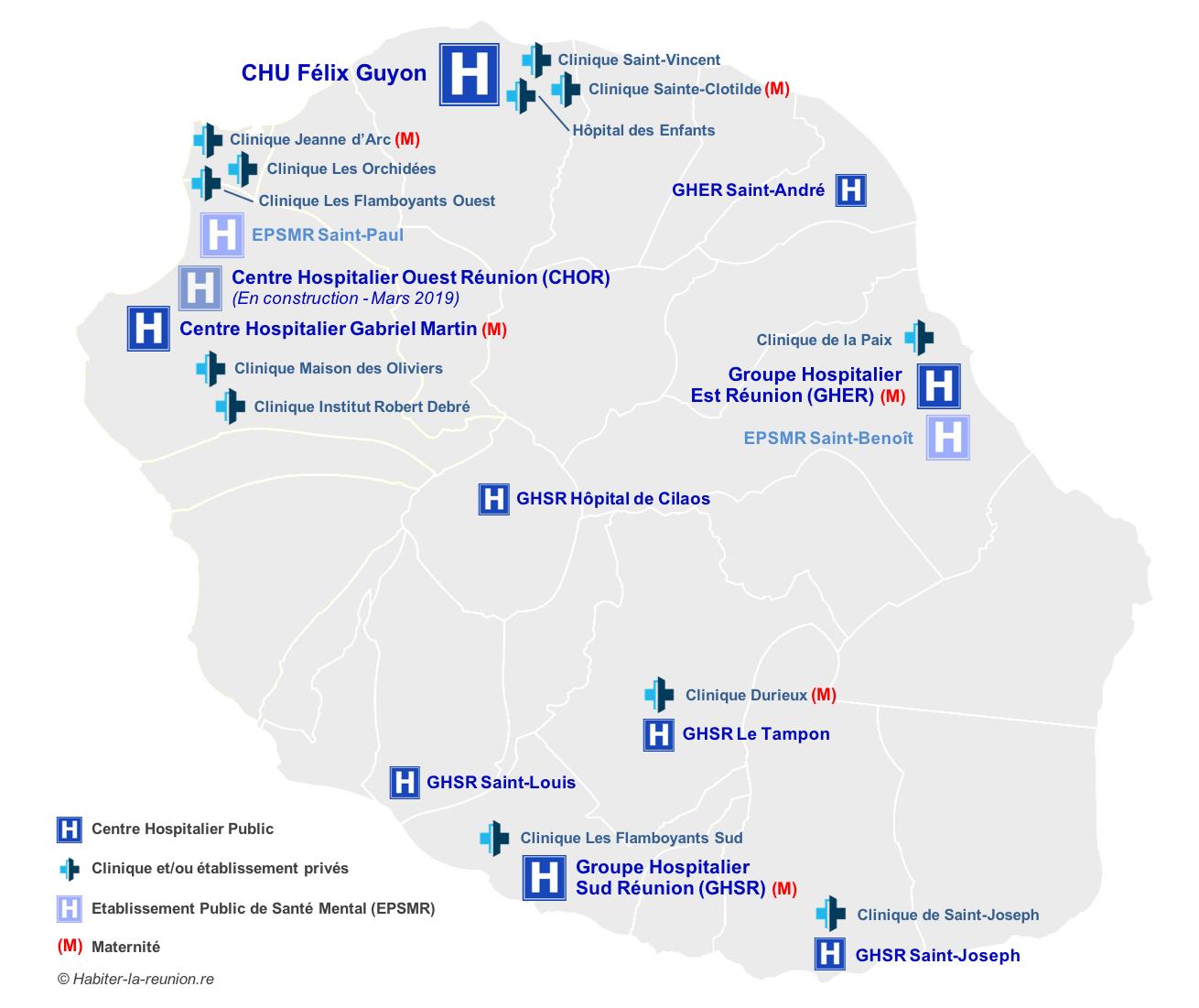 Carte-hopitaux-cliniques-Réunion