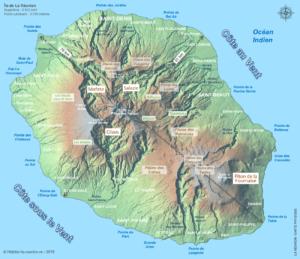 Carte-physique-La-Reunion-974