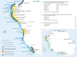 Carte-plages-zones-de-baignade-La-Réunion