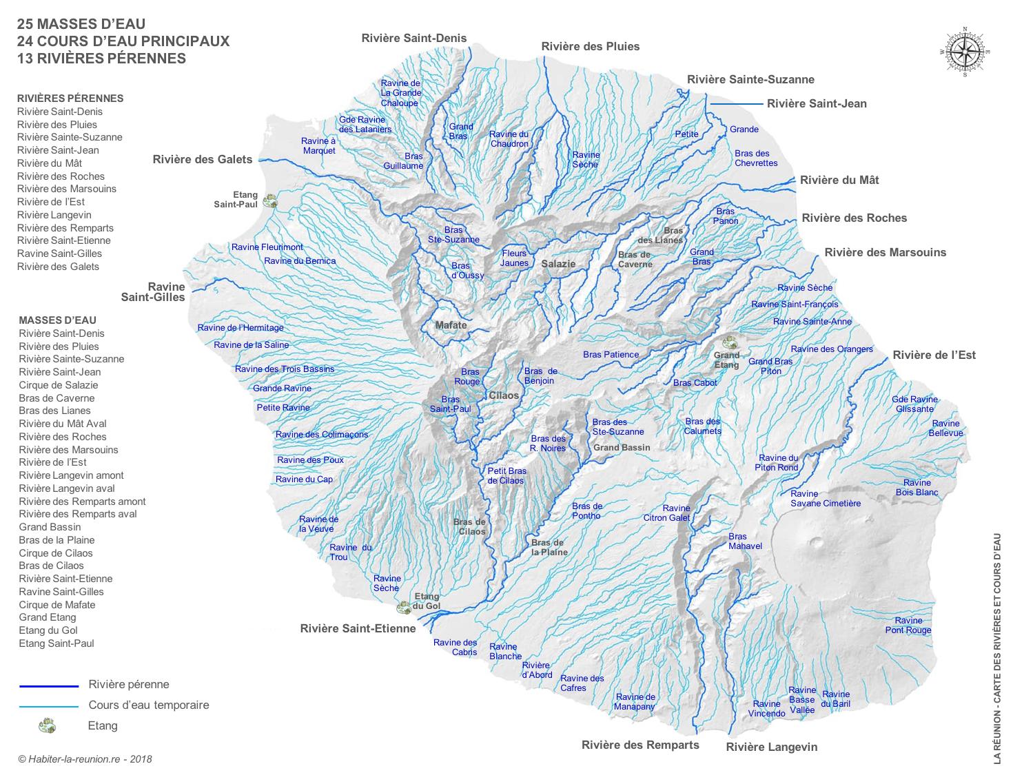 Construire Pres D Un Ruisseau rivières et cours d'eau de la réunion | habiter la réunion