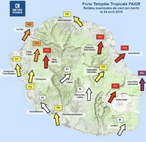 Bilan Forte Tempête Tropicale Fakir