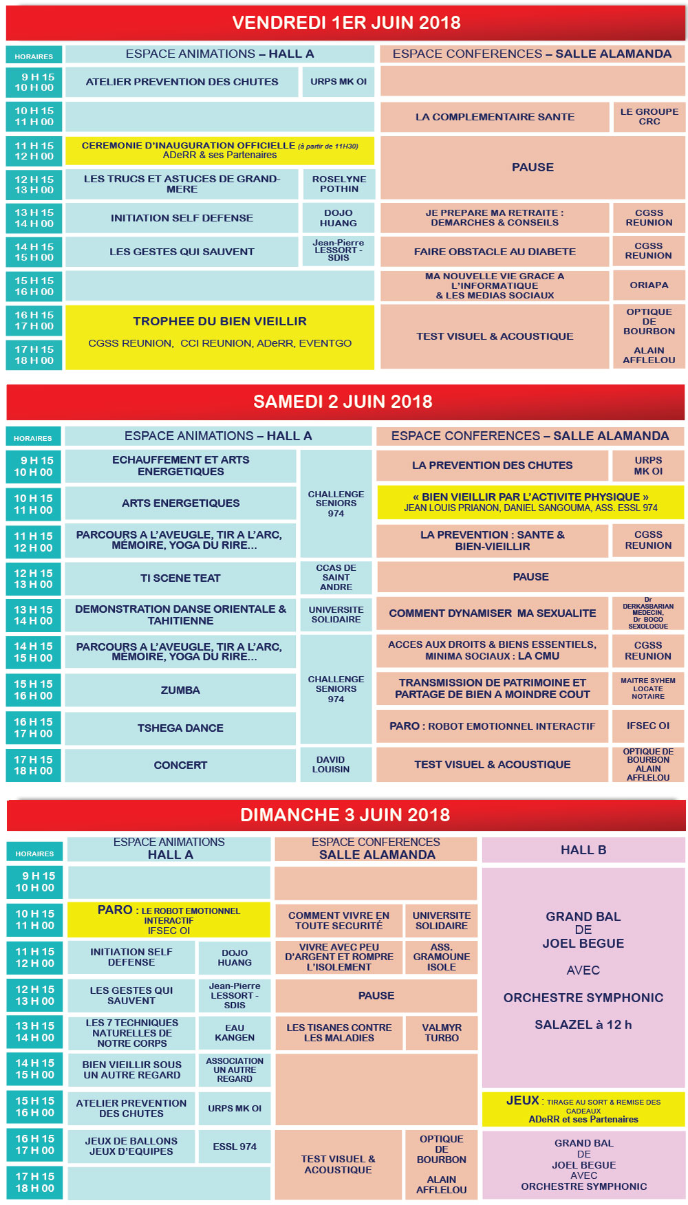 Salon des seniors 2018 du 1 au 3 juin habiter la r union - Tarif parking salon de l agriculture ...