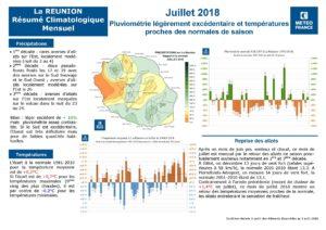 Bilan météo Réunion Juillet 2018