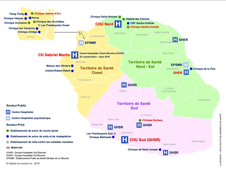 Carte-Etablissements-de-Santé-Réunion