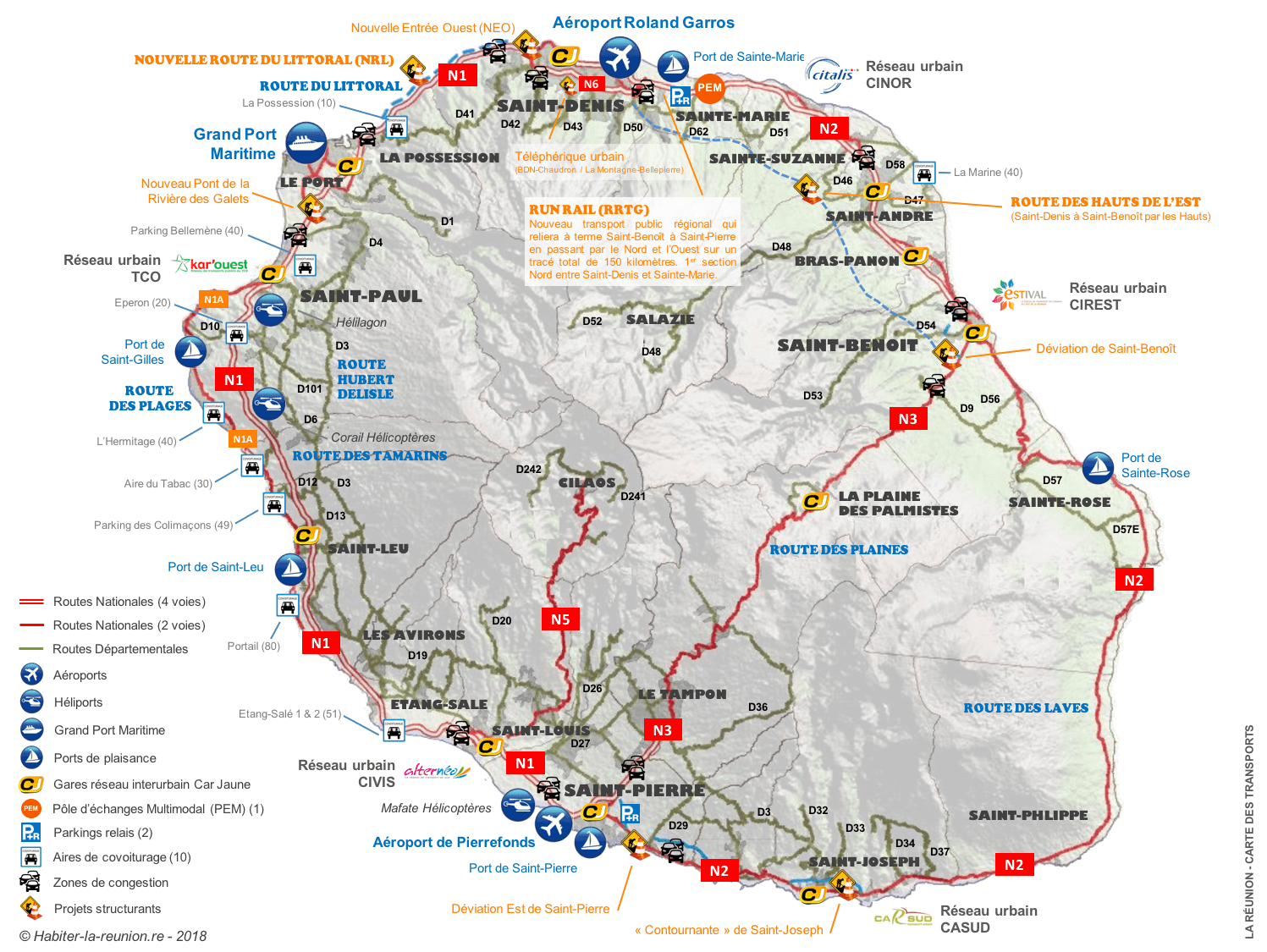 Carte-routes-infrastructures-transports-La-Reunion