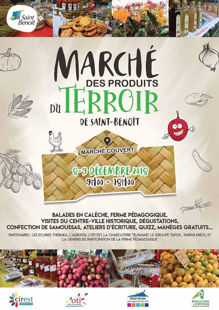Affiche-marche-produits-terroir-saint-benoit-2018