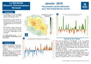 Bilan météo Réunion Janvier 2019