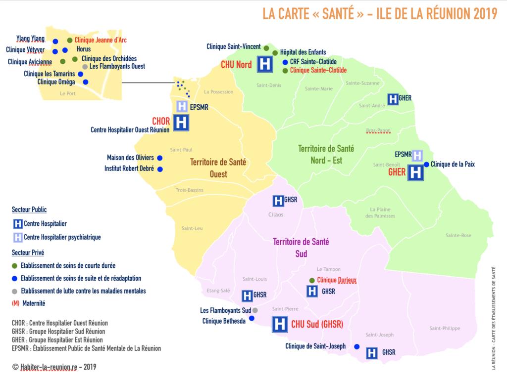 Carte-hopitaux-de-Santé-Réunion