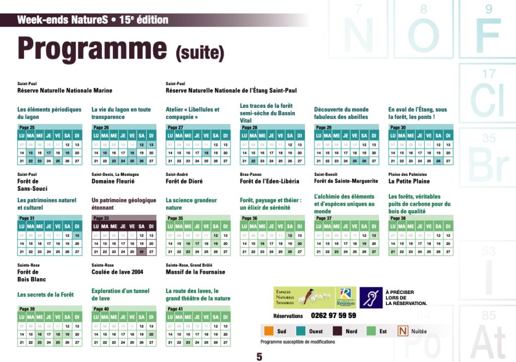 programme weekends natures 2