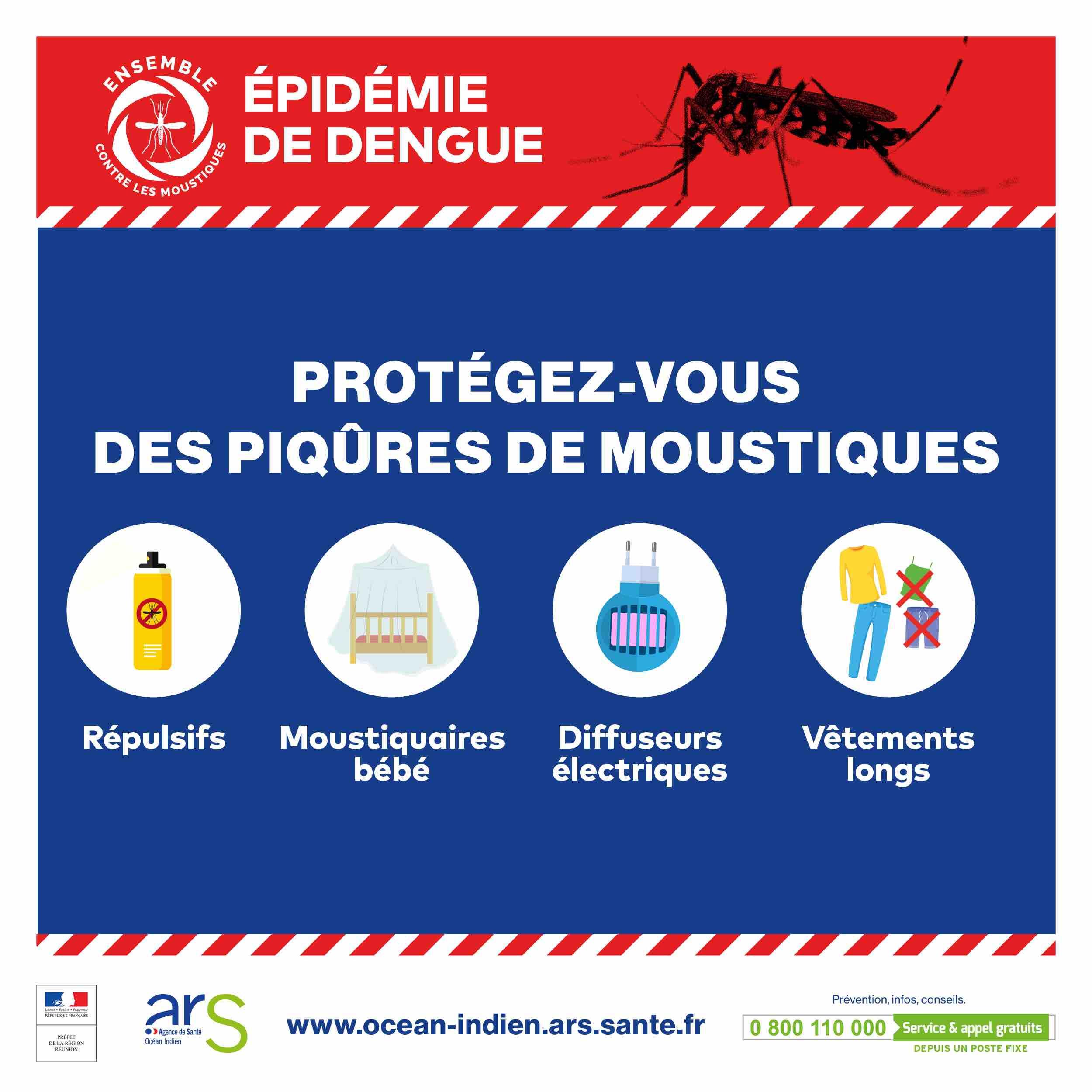 Dengue à La Réunion en 2020 : l'épidémie s'intensifie.